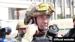 Міністр оборони України Валерій Гелетей у Слов'янську в день звільнення міста від бойовиків, 5 липня 2014 року