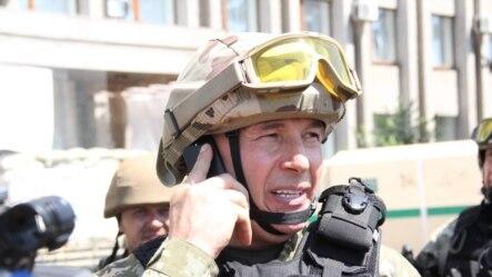 Ukraine -- Valeriy Heletey the Minister of Defence of Ukraine, Slovyansk, 5Jul2014
