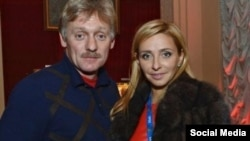 Kremlin spokesman Dmitry Peskov and his wife, Tatiana Navka