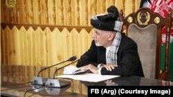 Owgan prezidenti Aşraf Ghani.