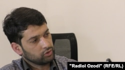 Daler Sharifov speaks during an interview with RFERL on January 30.