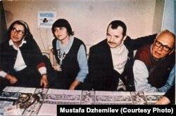 Слева направо: Елена Боннэр, Сафинар Джемилева, Мустафа Джемилев, Андрей Сахаров. Архив Мустафы Джемилева