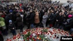 Погребната церемонија на Вацлав Хавел на 23 декември 2011 година.