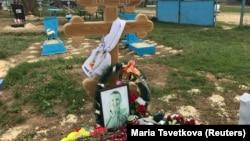 Mormântul militarului Aleksei Safonov, despre care se afirmă că a fost ucis în Siria, aprilie 2017