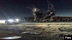 The bus that was blown up was transporting Revolutionary Guards troops.