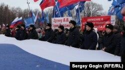 На площади Ленина проводятся провластные мероприятия