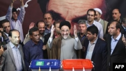 Former president Mohammad Khatami casts his vote at a polling station in Tehran, in June 2013 when Hassan Rouhani won his first term in office. File photo