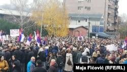 Protesta në veri të Mitrovicës. 27 nëntor, 2018.