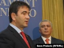 Nebojša Medojević i Andrija Mandić, 5. januar 2011.