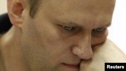 Алексей Навальный на заседании суда в Кирове