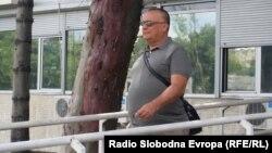 Архивска фотографија: Горан Грујевски пред Основниот суд Скопје 1 по едно од рочиштата за Тврдина 2