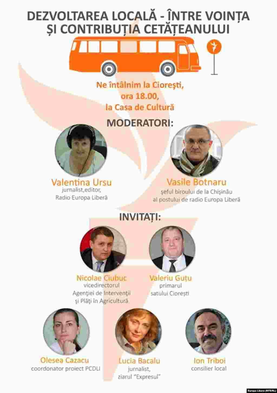 """Programul de astăzi al Campaniei """"Aici e Europa Liberă"""", la Ciorești, Nisporeni"""