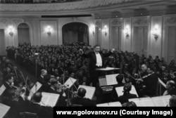 Николай Голованов на концерте в Большом зале Московской консерватории