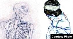 Рисунки Климта и Шиле