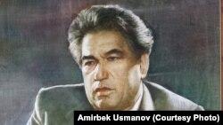 Чыңгыз Айтматовдун портрети. Автору Сапар Осмоналиев. 2018-жыл.