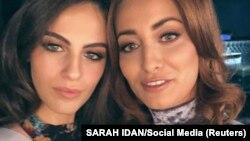 ساره عیدان (راست) و آدار گاندلزمن در سلفی جنجالیشان