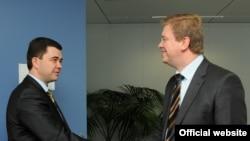 Victor Osipov și comisarul UE Stefan Füle