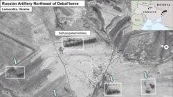 Russian Missiles in Debaltsevo Ukraine - air photo shooting