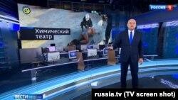 """Первый кадр сюжета в программе """"Вести недели"""" от 24 апреля, посвященного """"Белым каскам"""" и химической атаке в Думе"""