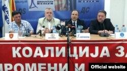 Прес конференција на Коалицијата за промени и правда. 18 октомври 2016.