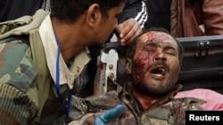 Повстанцы, раненые в боях за Рас-Лануф