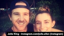 Mark Firkin dhe Jolie King.