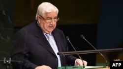 Syrian Foreign Minister Walid al-Muallem (file photo)