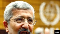 علی اصغر سلطانیه نماینده ایران در آژانس بین المللی انرژی اتمی. (عکس از epa)