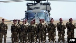 Italian soldiers, pictured here at Herat airport, make up part of the International Security Assistance Force. (file photo)