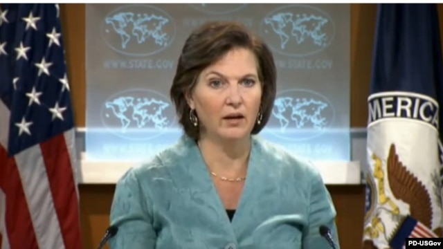 "U.S. State Department spokeswoman Victoria Nuland accused Iran of a ""provocative step."""