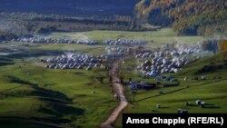 Ущелье Кырчын, где проходит культурная программа Всемирных игр кочевников. 9 сентября 2016 года.