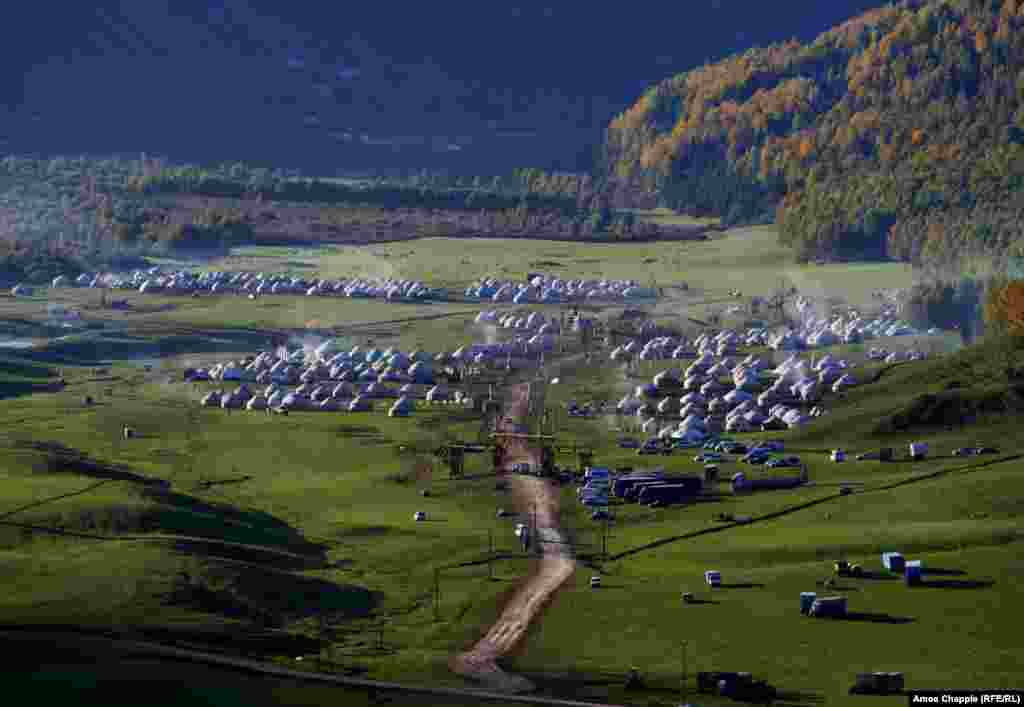 High in the mountains of Kyrgyzstan, a yurt city is host to the World Nomad Games.