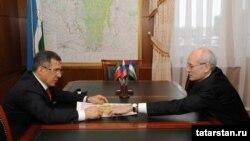 Рөстәм Миңнеханов һәм Рөстәм Хәмитов