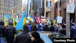 Украинаны қолдаған шеру. Торонто, 17 наурыз 2014 жыл.