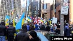 Під час однієї з акцій у Канаді на підтримку України, архівне фото