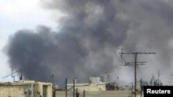 Өлкөдөгү козголоңдуу шаарлардын бири Хомстогу абал, 13-январь, 2012
