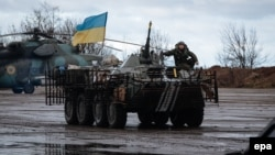 Українські військові біля Краматорська
