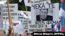 Sa protesta opozicije u RS-u, Banjaluka.