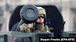 Ракета Javelin на военном параде в Киеве