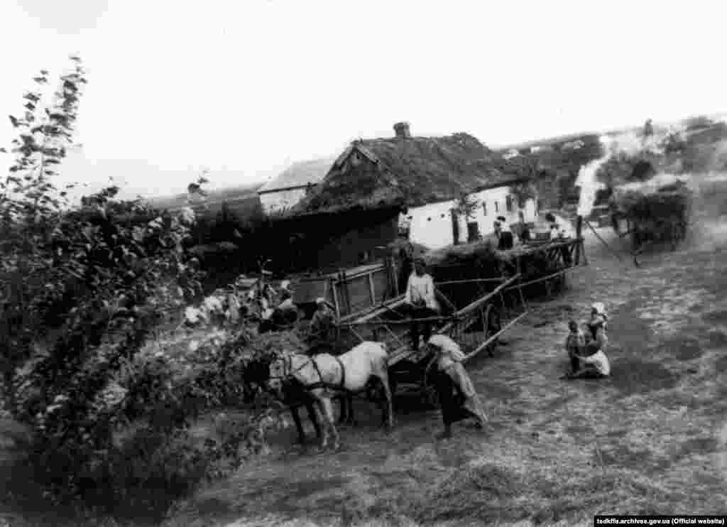 Садиба селянина Залізняка М. Н. в селі Удачне Гришинського району Донецької області, 1927 рік