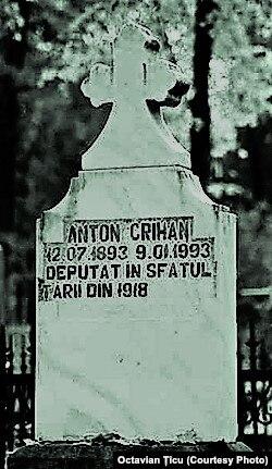 Mormântul lui Anton Crihan la Cimitirul Central din Chișinău