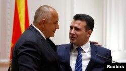 Kryeministri i Bullgarisë dhe ai i Maqedonisë së Veriut, Boris Borisov dhe Zoran Zaev.