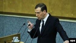 Fjalimi i Medvedev para shtëpisë së ulët të Parlamentit të Rusisë, 19 prill 2016
