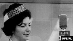 Галіна Руднік у студыі Радыё Свабода, 1950-я гг.