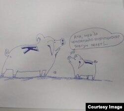 Төлөгөн Карыкеевдин карикатурасы.