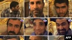تصاویری که تلویزیون عربی جمهوری اسلامی ایران از نه ایرانی آزاد شده پخش کرده است.
