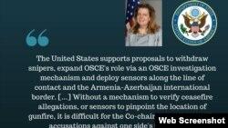 Մեջբերում կոնգրեսականների նամակին ԱՄՆ պետքարտուղարի օգնական Ջուլիա Ֆրայֆիլդի պատասխանից, լուսանկարը՝ Վաշինգտոնի Հայ դատի գրասենյակի