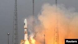 """""""Союз"""" ракетасининг учирилиши, 2011 йил 21 октябр."""