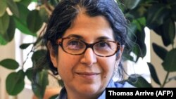 Handout picture taken in 2012 in an unknown location and released on July 16, 2019 by Sciences Po university shows Franco-Iranian academic Fariba Adelkhah.