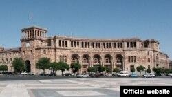Հայաստան -- Կառավարության շենքը Երեւանի Հանրապետության հրապարակում, արխիվ